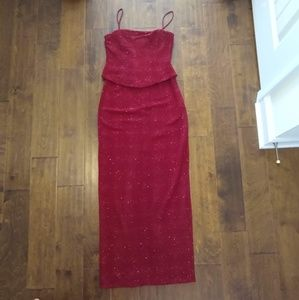 Night Way size 6 formal dress red holiday Christma